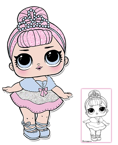 Serie 1 Pagina 3 Lol Surprise Doll Coloring Pages Lol Dolls Lol Doll Party