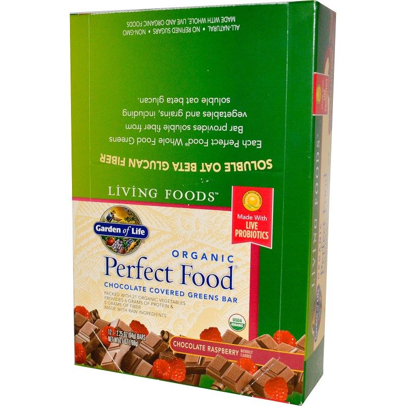 Garden of Life, Living Foods, Perfect Food, Chocolate