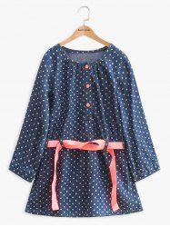 SHARE & Get it FREE | Ribbon Tied Polka Dot Long Sleeve DressFor Fashion…