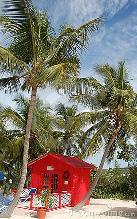 Beach cottage in the Caribbean