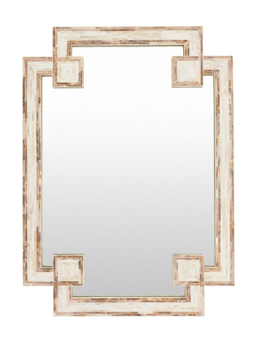 Greek Key Shell Decorative Mirror Mother Of Pearl Mirror