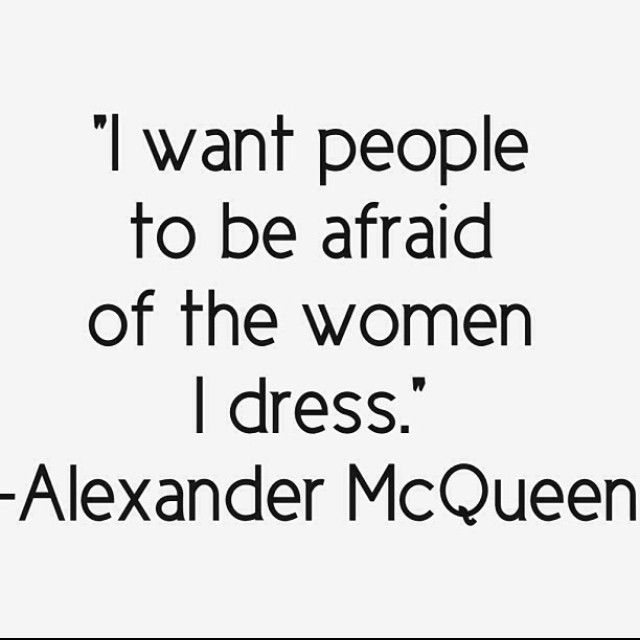 Nothing beats the power of a woman in McQueen.