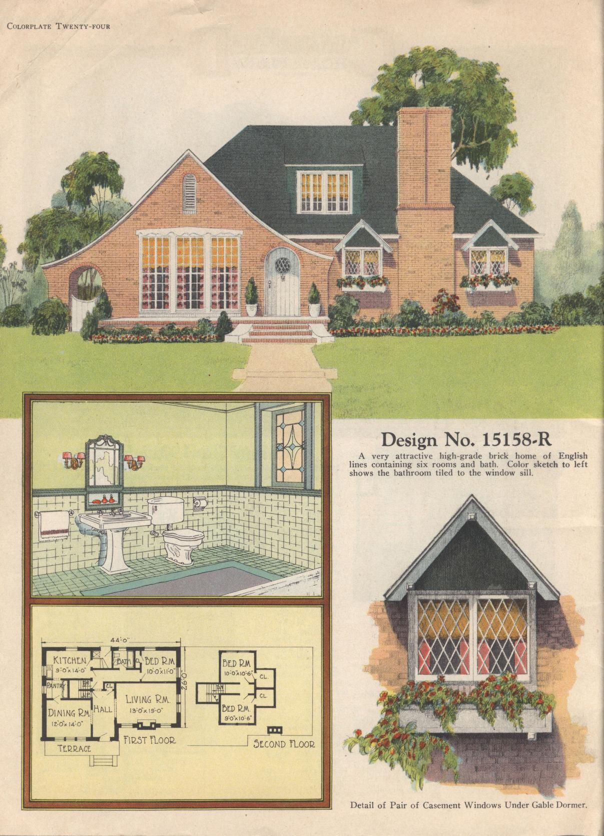 colorkeed home plans radford 1920s - Brick English Home Plans