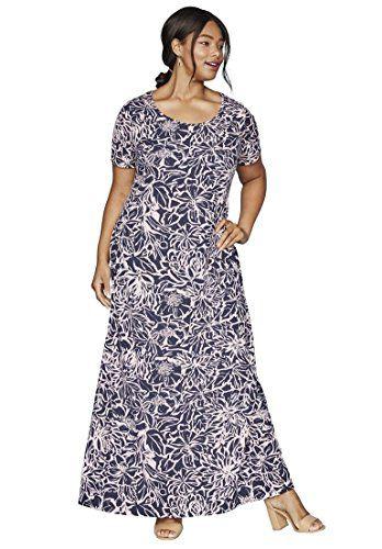 Jessica London Women\'s Plus Size Petite Maxi Dress Mosaic Print,24 P ...