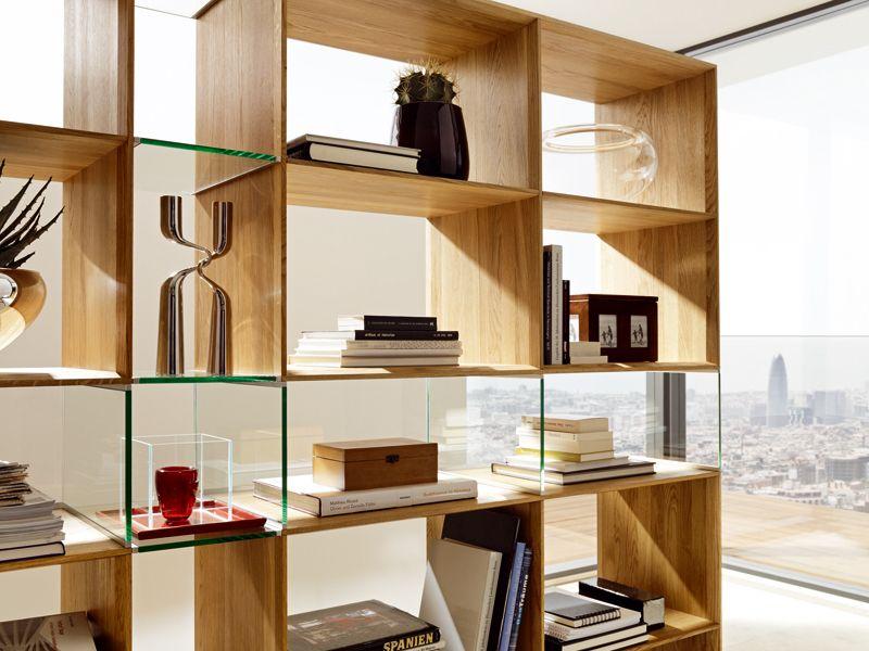 Libreria A Giorno Autoportante LUX HOME OFFICE | Libreria Divisoria  Collezione Lux By TEAM 7 Natürlich