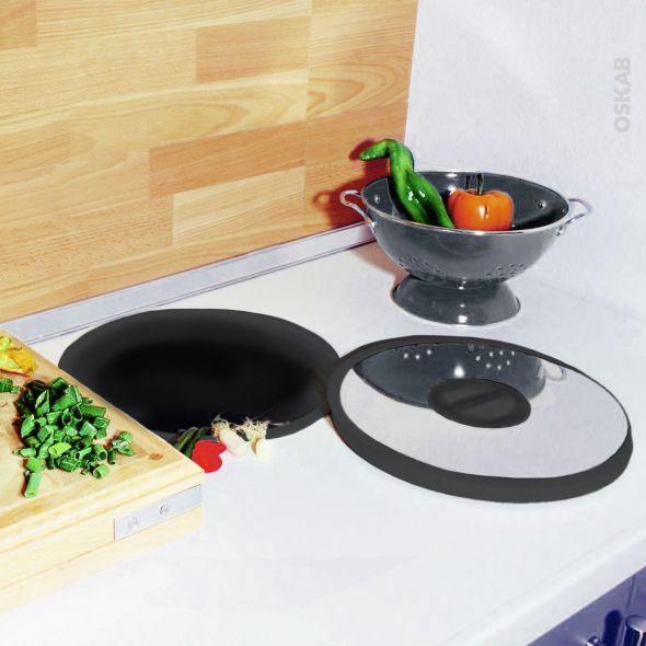Poubelle Plan De Travail 13l Noir Inox Sokleo Poubelle Cuisine