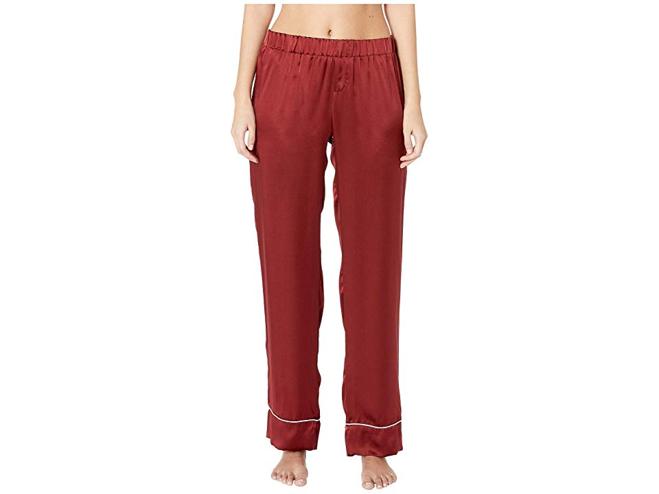 Maison Du Soir Alexandra Pants Brick Red Womens Casual Pants Enjoy your time on the couch looking fabulous in these Maison Du Soir Alexandra Pants Stretch waist pajama pa...