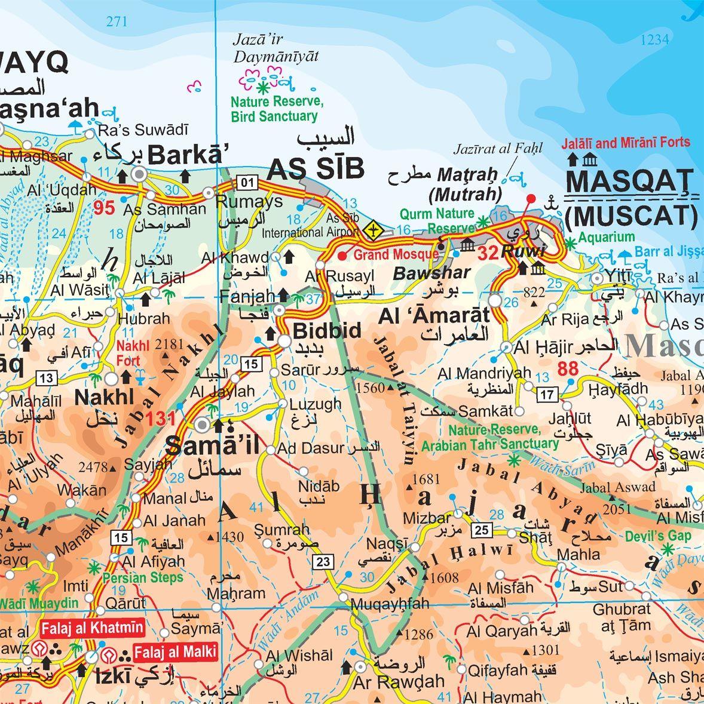 Masqat Oman Map Mappery Map Oman Life Map