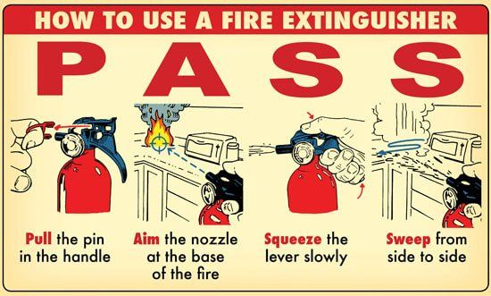 how to use a fire extinguisher school pinterest fire fire
