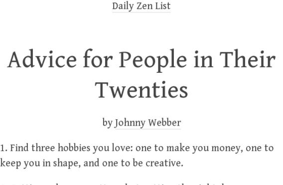 1 Find three hobbies you love one to make you money, one to keep - 2 1 degree