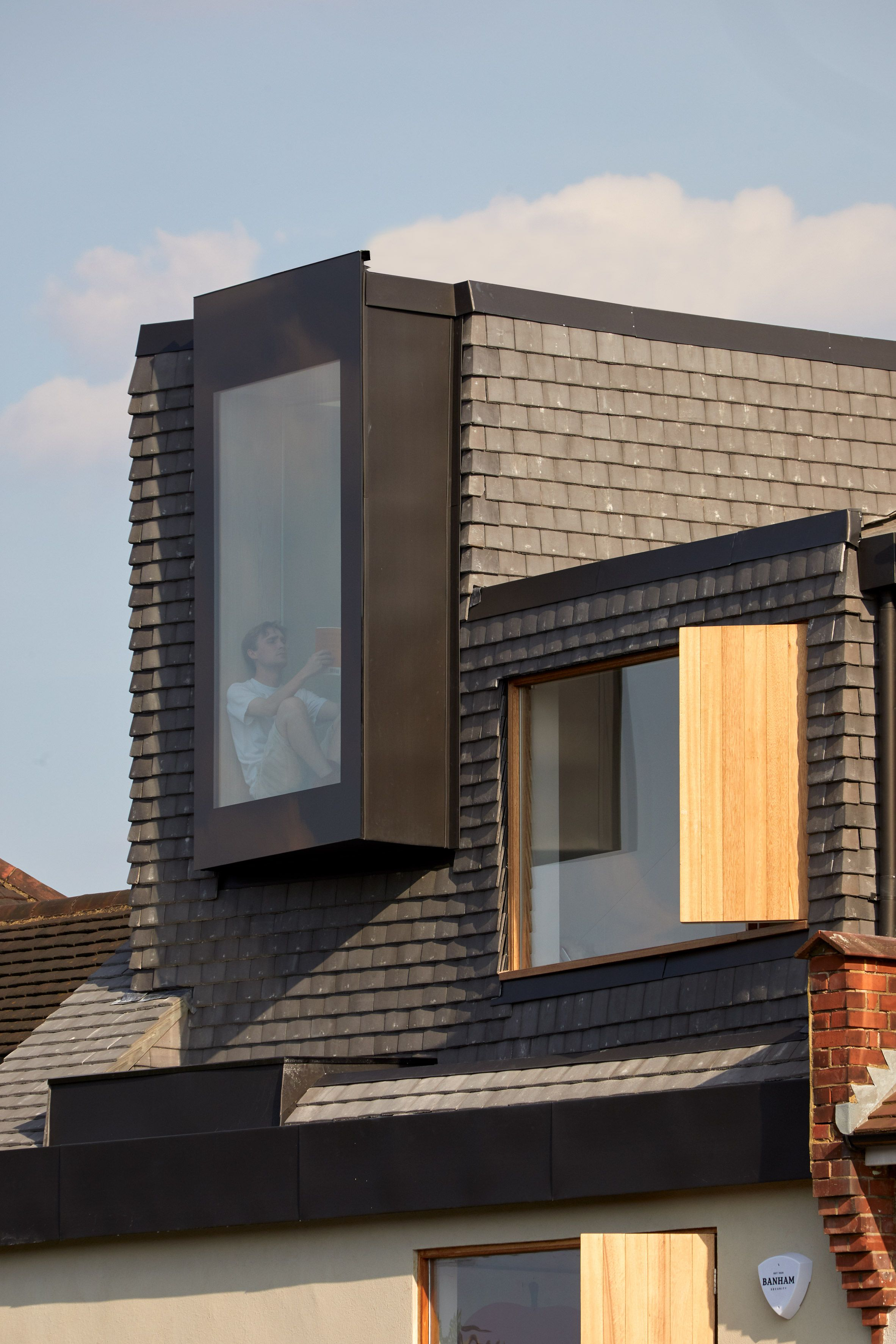 Concrete Roof Tiles Cover The New Exterior Of Douglas House S Upper Level Douglas House House Cladding London House