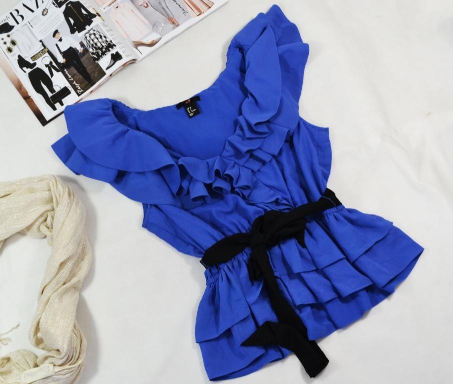Bluzka Z Falbanami Kopertowa H M R 38 3974180858 Oficjalne Archiwum Allegro Fashion Ruffle Blouse Women S Top