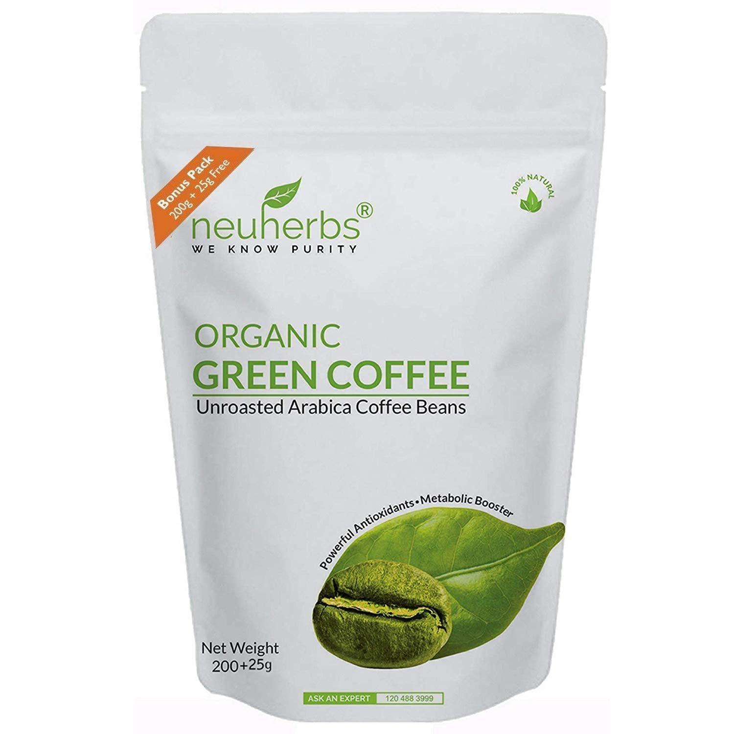 Buy Neuherbs Organic Green Coffee Beans For Weight Management 200g 25g Free Online At Low Prices In I With Images Green Coffee Green Coffee Bean Organic Green Coffee Beans