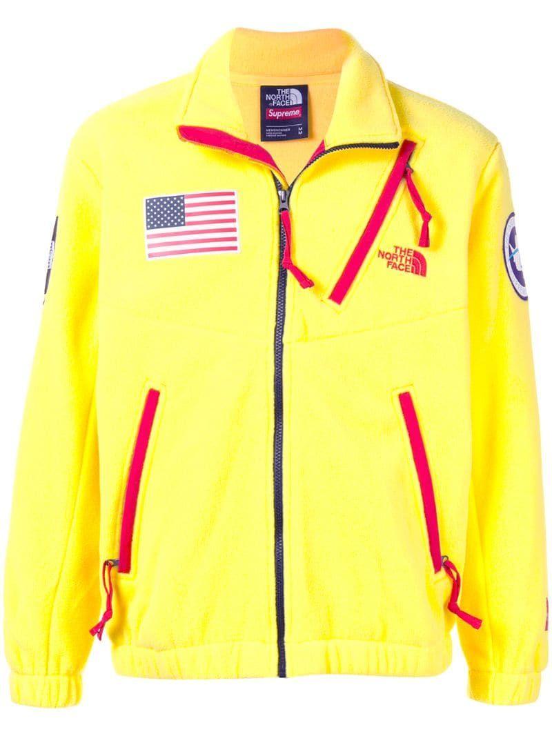 Supreme Tnf Expedition Fleece Jacket In Yellow Modesens Fleece Jacket Mens Designer Fashion North Face Mountain Jacket [ 1067 x 800 Pixel ]