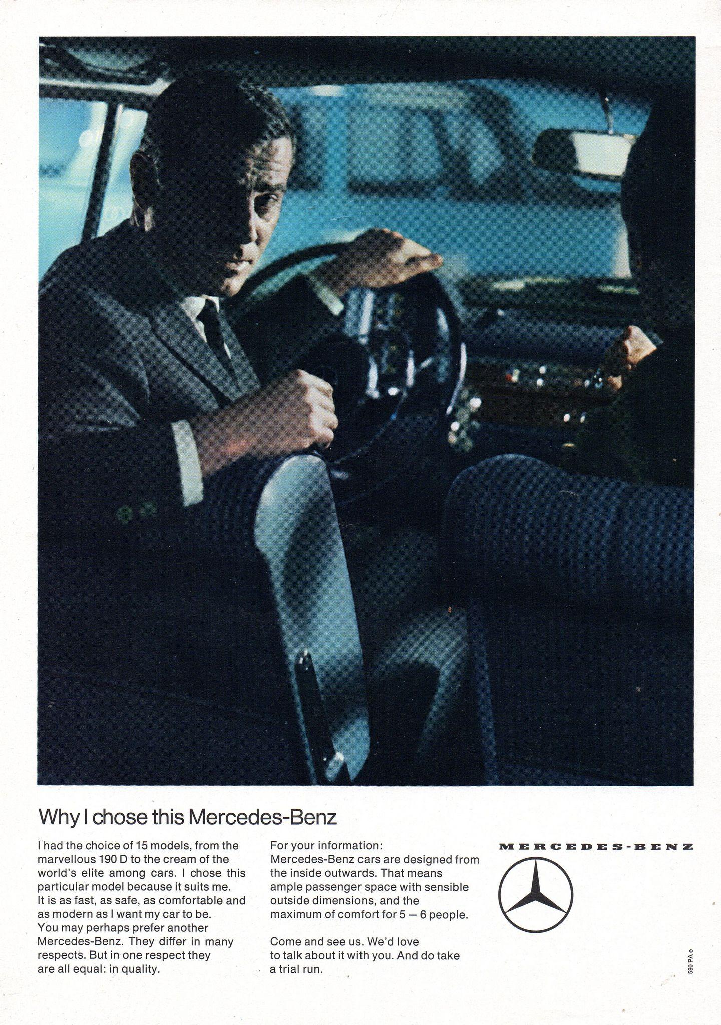 64ff929a6f67 1965 Mercedes-Benz 190 D W110 Why I Chose This Aussie Original Magazine  Advertisement