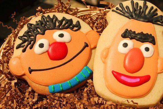 Bert and Ernie cookies. Very cute!