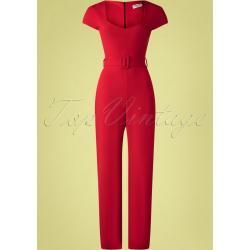 Photo of 50s Senne Jumpsuit in Lipstick Red