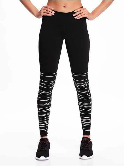 3fbf2cfab557d Activewear Black & White striped leggings | Old Navy | Fitness ...
