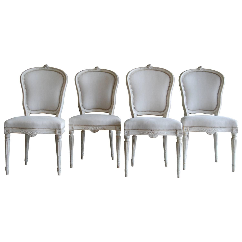 Set of Four 19th Century Swedish Chairs