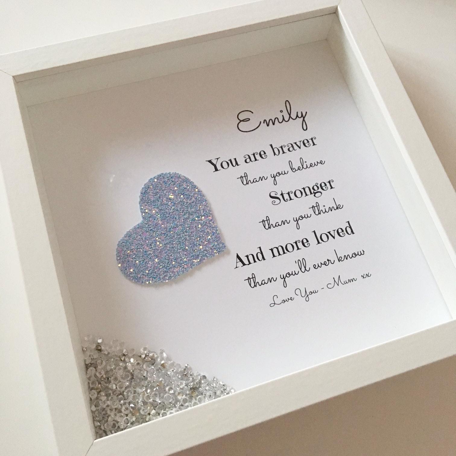 You Are Braver Than...Box Frame | Frames | Pinterest | Box frames ...