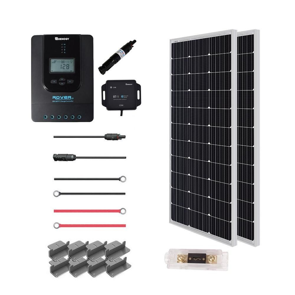 Renogy 200 Watt 12 Volt Off Grid Solar Premium Kit In 2019 Off Grid Solar Best Solar Panels Solar Roof