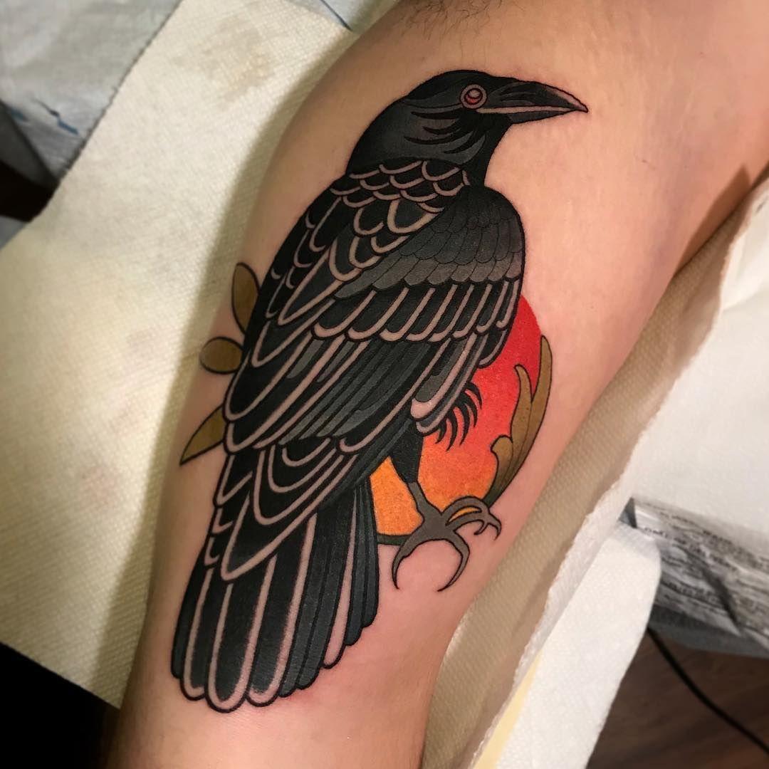 49++ Stunning Traditional style raven tattoo ideas