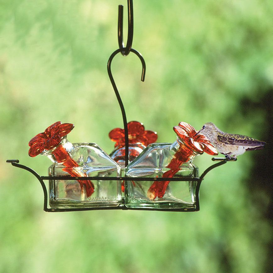 Bird Feeders Humming bird feeders, Glass hummingbird