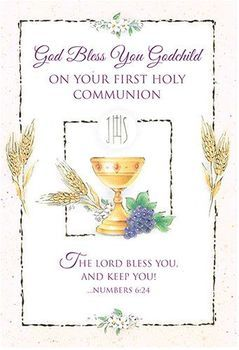 A Sweet First Communion Greeting Card From Godparent To Godchild Browse To Find A