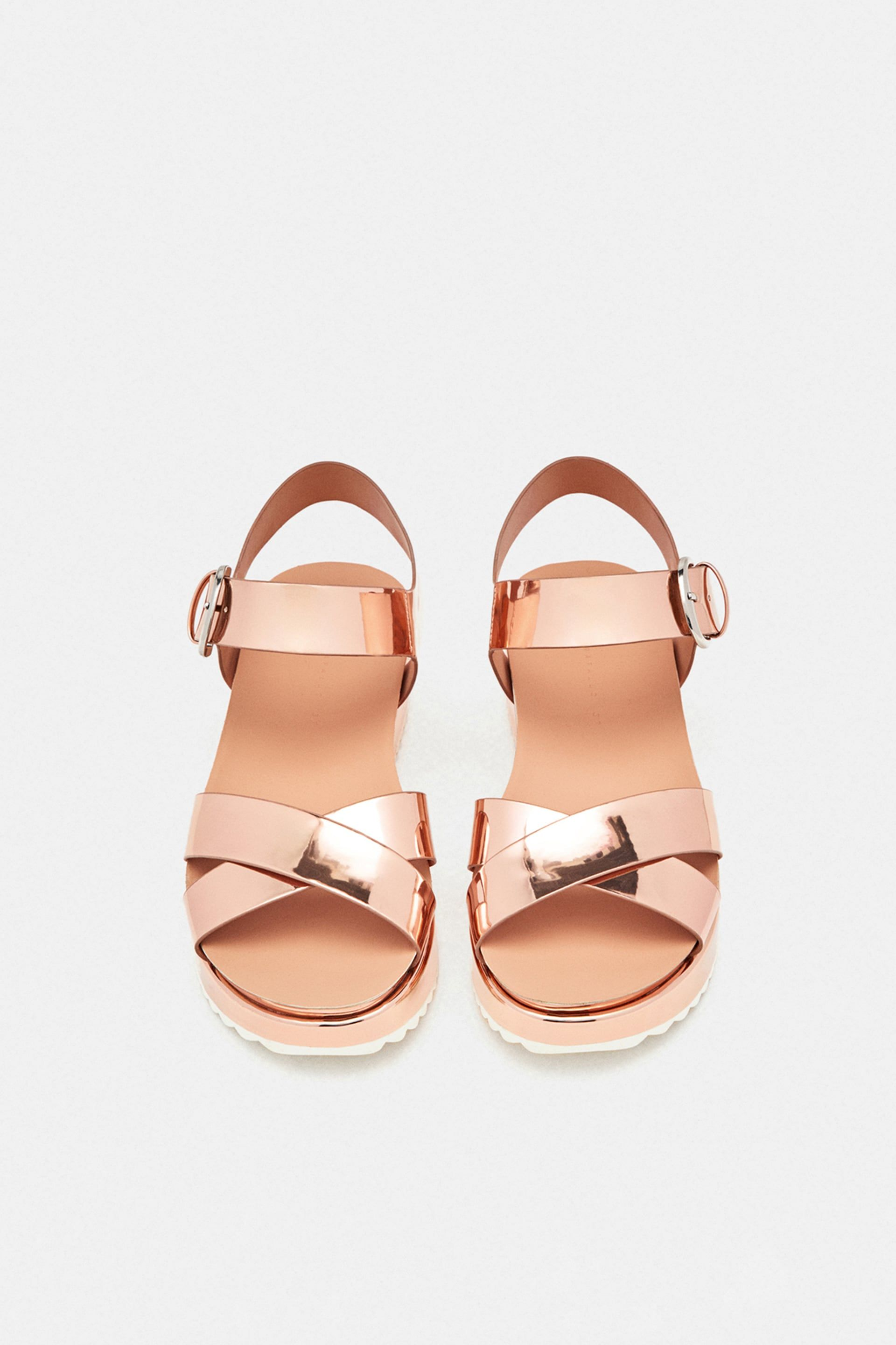 02f58befbfdde ZARA - WOMAN - SANDALS WITH LAMINATED STRAPS