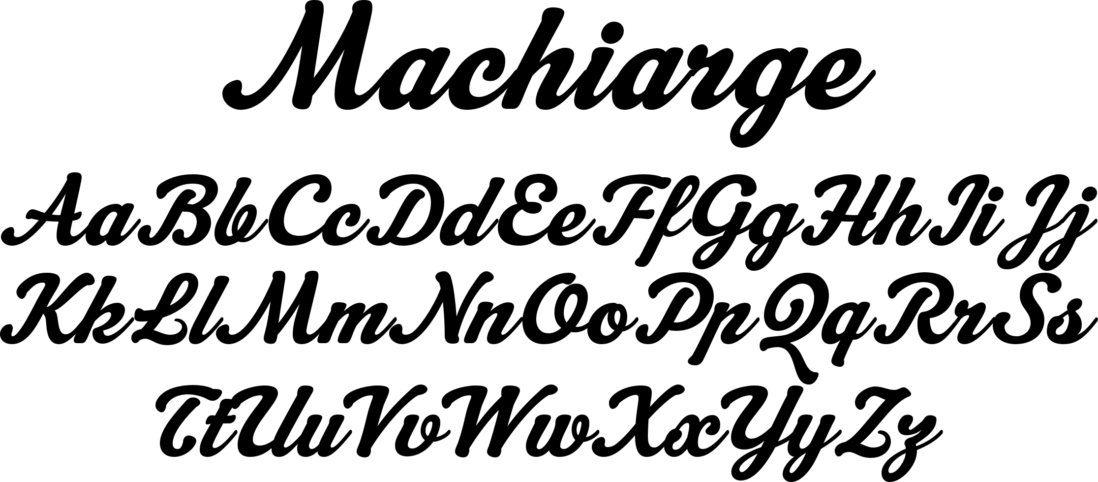 Machiarge font | New Project (BZ) | Fonts, Typography, Calligraphy