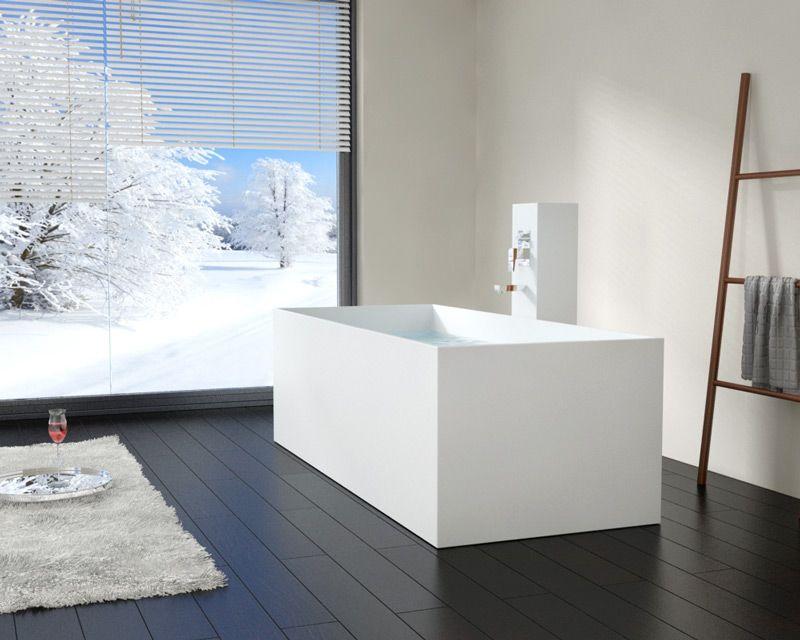 Freistehende Badewanne BW-06 aus Mineralguss Badewanne