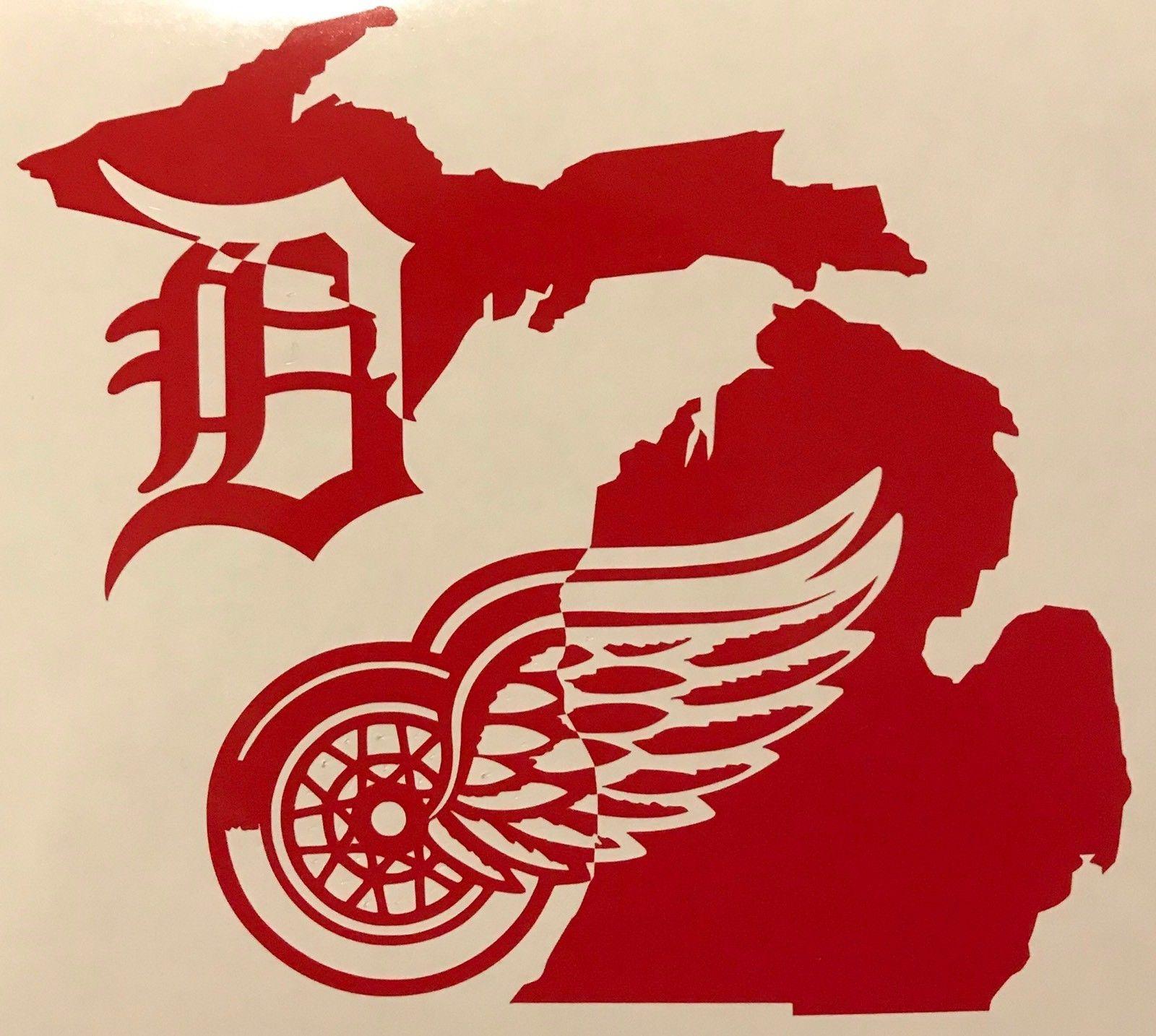 Detroit Red Wings Tigers Michigan Mitten Lca Yeti Cup Vinyl Decal Sticker Michigan Decal Michigan Sticker Vinyl Decals [ 1434 x 1600 Pixel ]