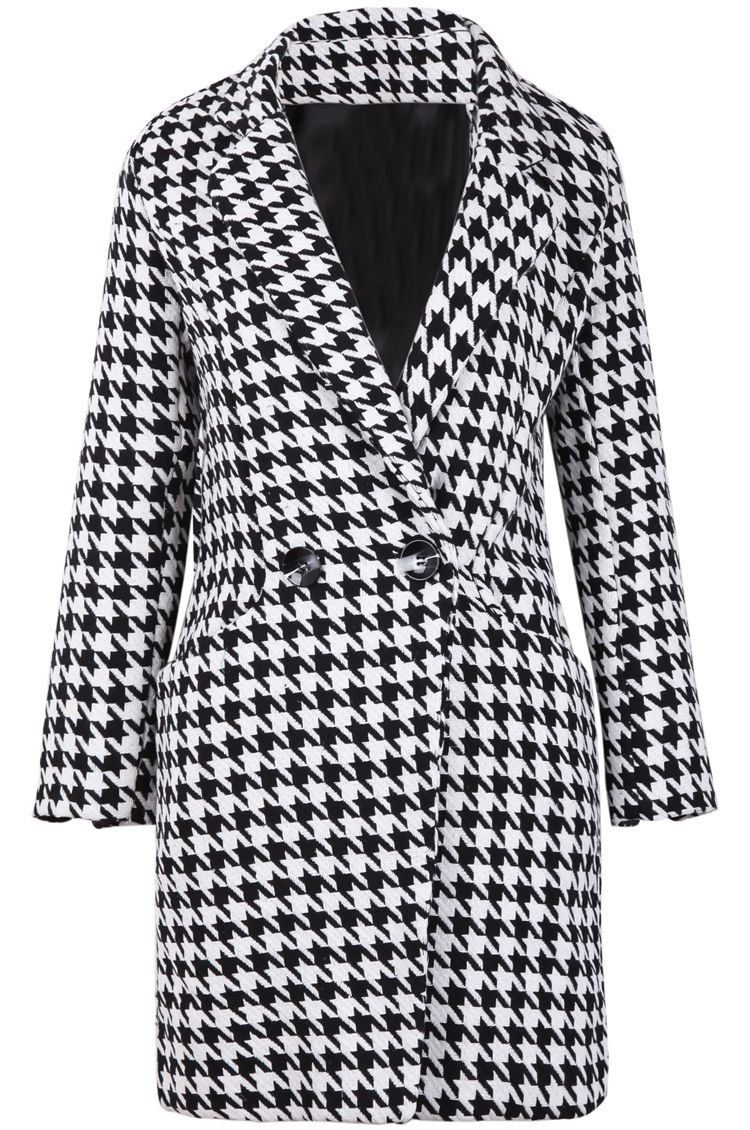 Black & White Houndstooth Coat. | ALABAMA (Gameday wear