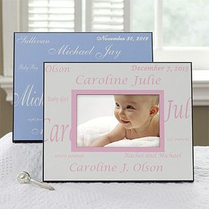 Custom Personalized Baby Picture Frame - another twist on the baby frame i posted