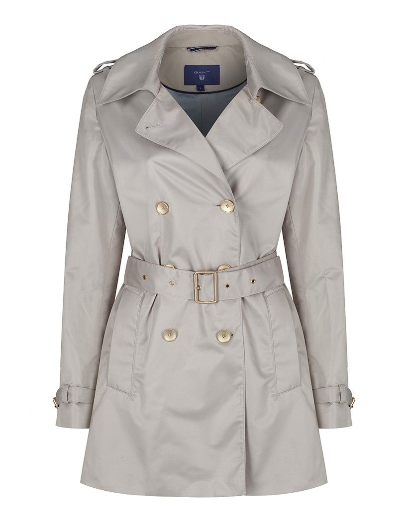 Gant Women's Double Breasted Trench Coat - Dry Sand