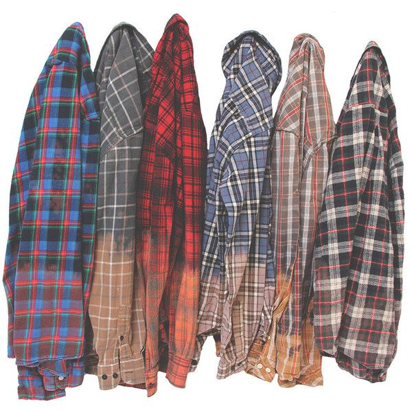 Ombre Flannel Shirt Dip Dyed Bleached Distressed Flannels ...