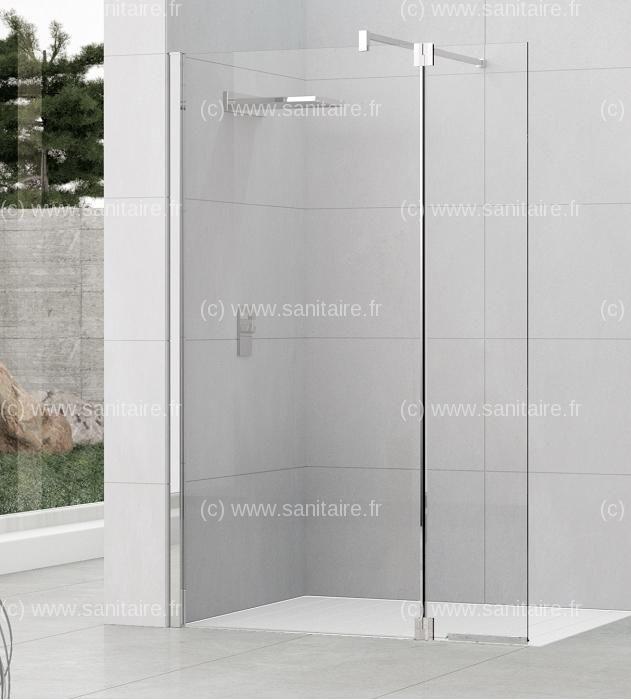 paroi de douche fixe volet pivotant kuadra h2 90 37 transparent salle de bain bathroom. Black Bedroom Furniture Sets. Home Design Ideas