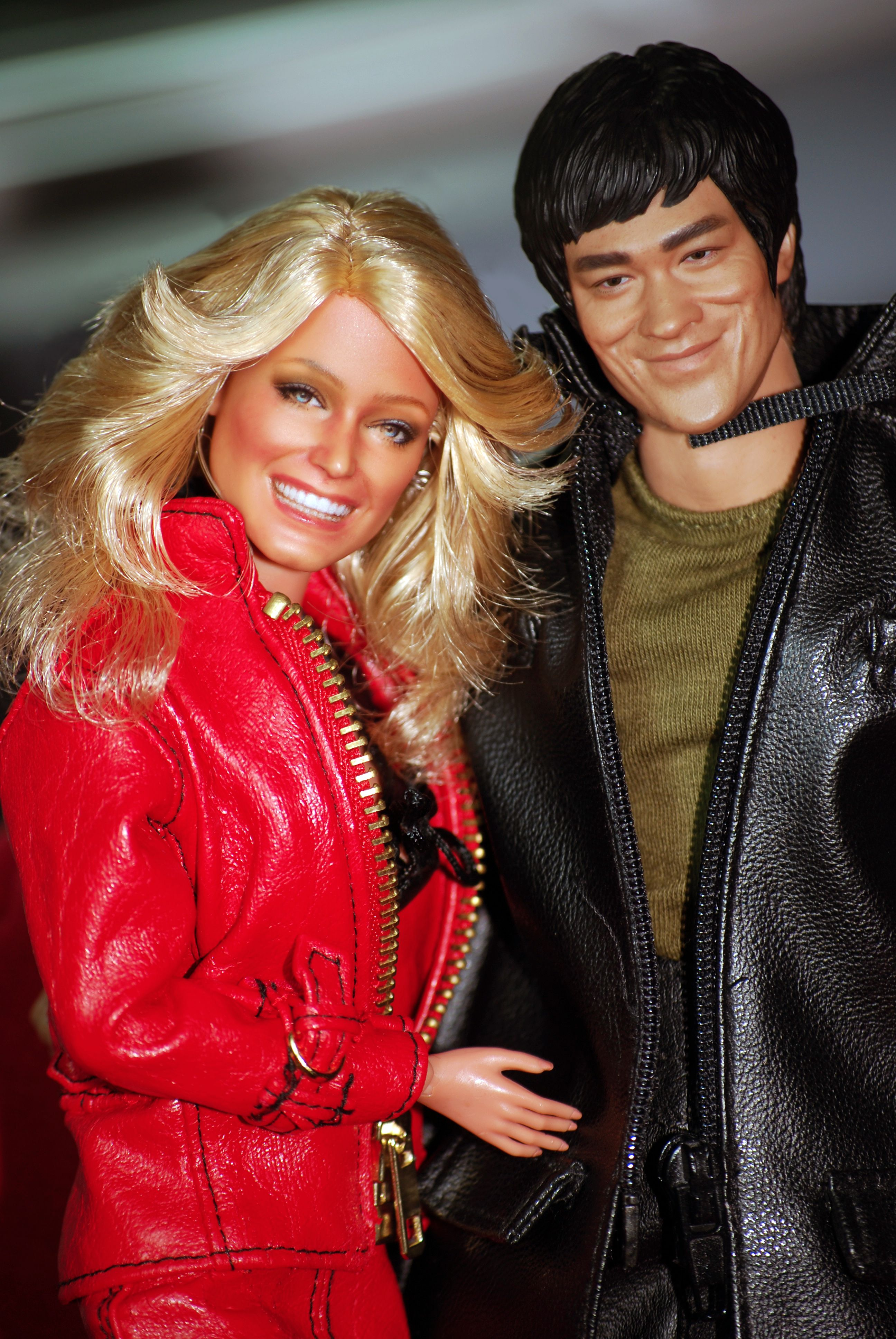 A Black Label Farrah Fawcett Barbie Repainted And Restyled By Artist