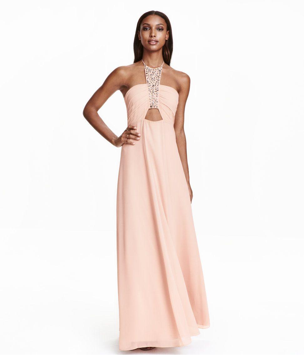 Halterneck maxi dress | Party in H&M | [Vêtement ] | Pinterest ...