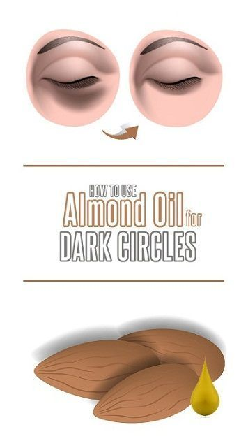 Want to get rid of dark circles use almond oil with above ...