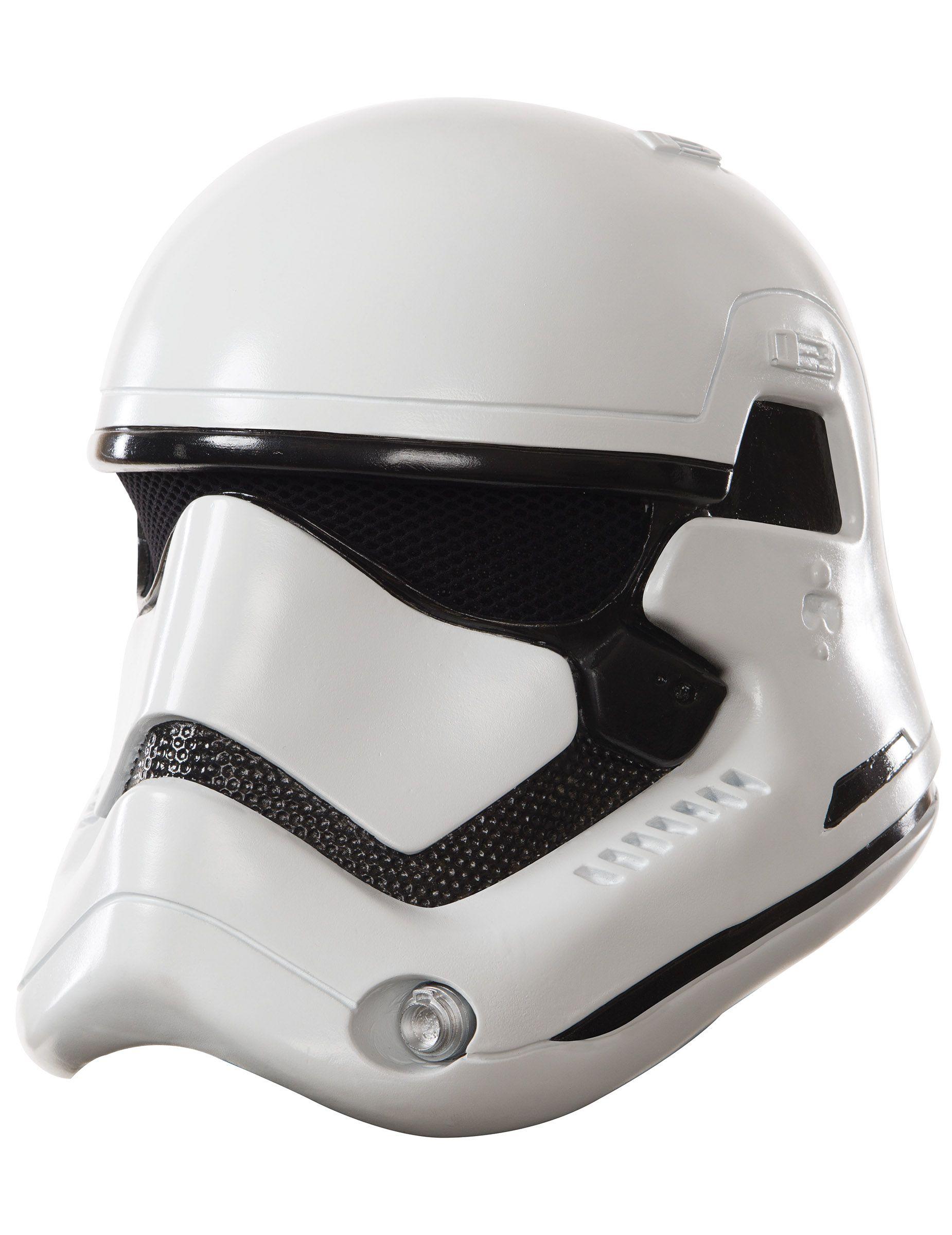 Máscara adulto casco 2 partes StormTrooper Blanco-Star Wars VII™: Esta máscara deStormTrooper para adulto tiene licencia oficialStar Wars™. Es de plástico rígido y representa a la perfección el casco de los...