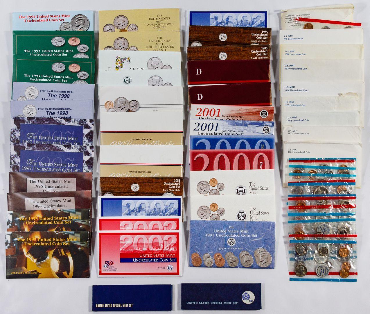 United States Mint Proof Set Lot-1973-1978