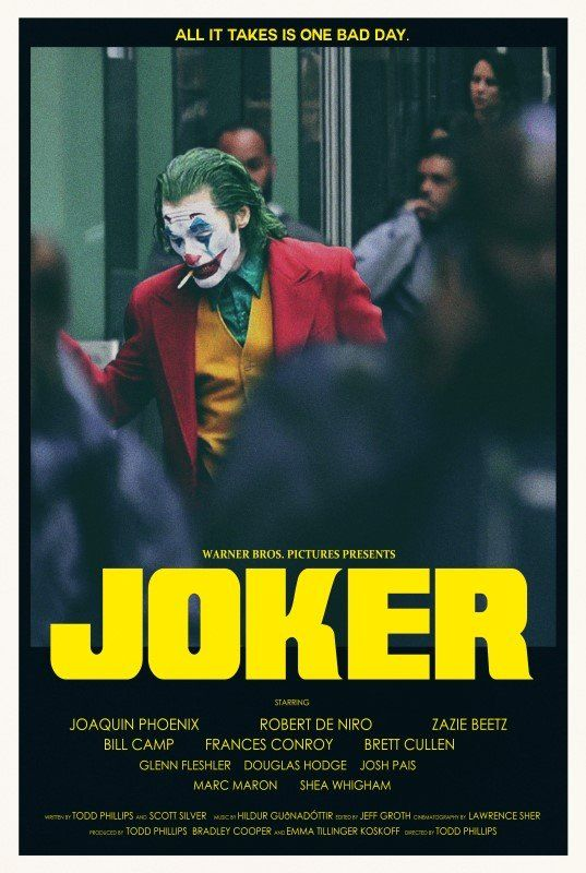 JOKER MOVIE POSTER PRINT WALL ART IMAGE FILM MOVIE 2019 A4 A3 SIZE