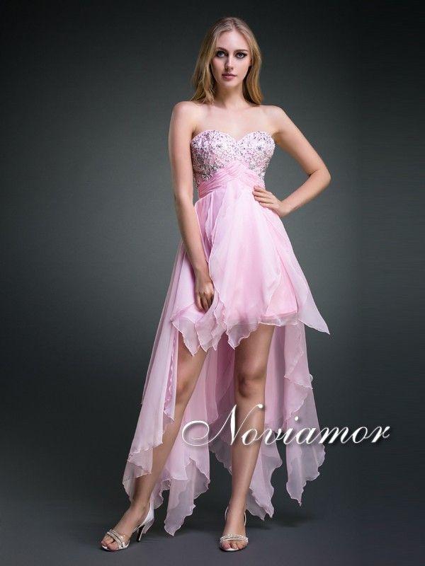 Rosado Saten Corto Vestido Palabra de Honor DH1024 $361.99 Vestidos ...
