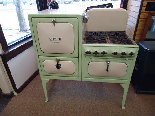 Antique Roper Stove Oven Baked Enamel