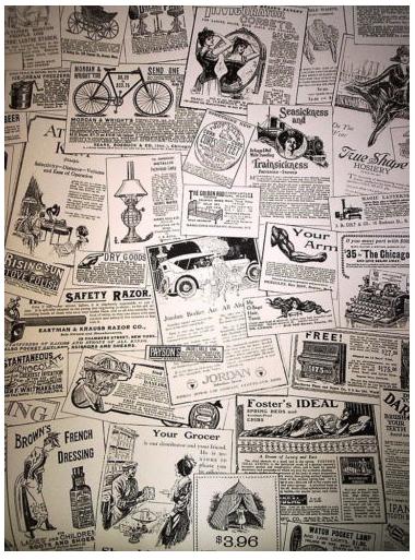 Vintage Newspaper Print Wallpaper Vintage Newspaper Sticker Decor Wallpaper