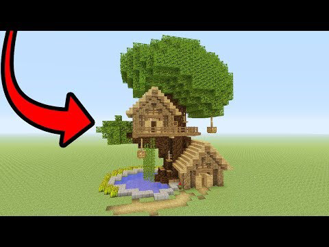 Minecraft Tutorial How To Make A Tree Base Easy Tree House Youtube Minecraft Treehouses Cute Minecraft Houses Minecraft Jungle House