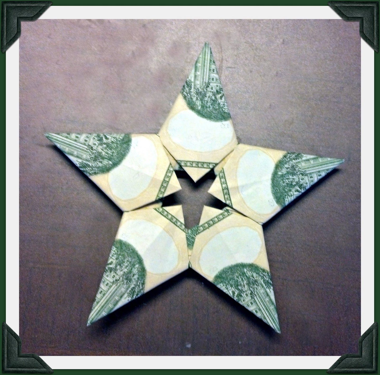 money origami i cant keep up with a blog money star