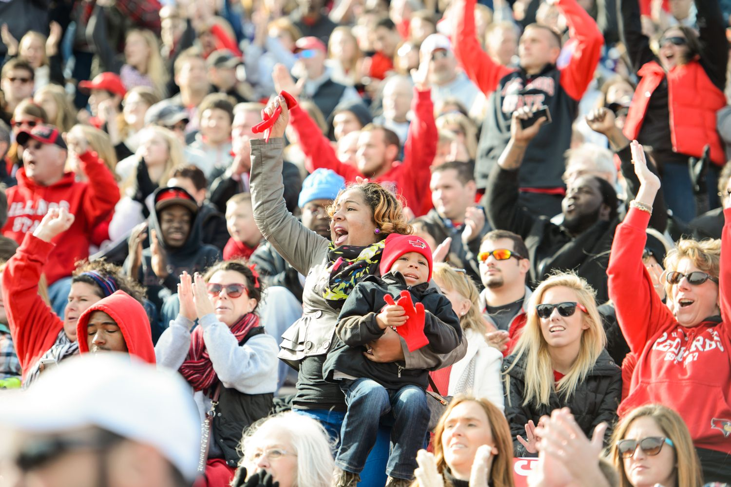 The Family Weekend crowd at Hancock Stadium on October 26, 2013.