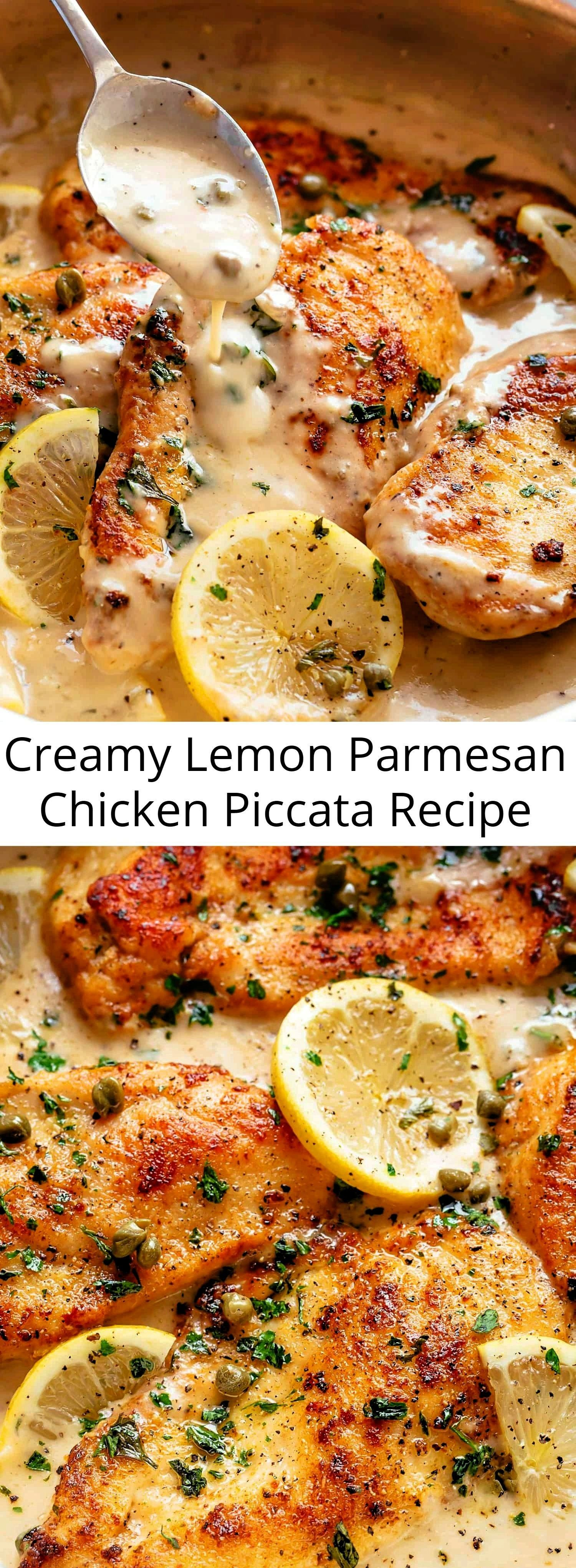 ultimate in gourmet comfort food with parmesan cheese, garlic and a creamy lemon sauce, this Creamy